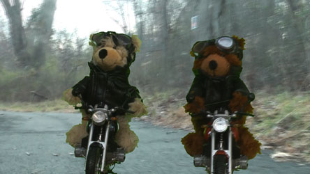 Motorcycle Charly Steiff Teddy Bears